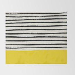 Sunshine x Stripes Throw Blanket