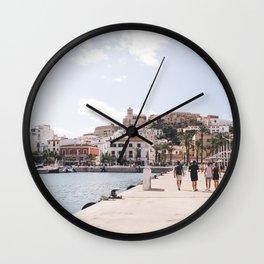 Ibiza Town Outlook Wall Clock