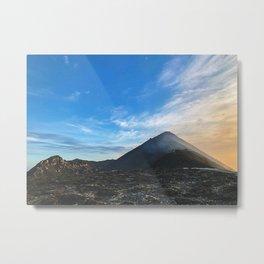 Stromboli Volcano Sunset Metal Print