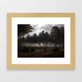 Caspar David Friedrich The Time of the Day, The Evening Framed Art Print