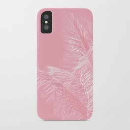 Millennial Pink illumination of Heart White Tropical Palm Hawaii iPhone Case