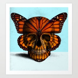 SKULL (MONARCH BUTTERFLY) Art Print