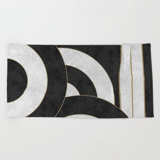 Geometric Marble 01 (abstract) Beach Towel