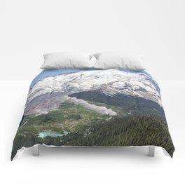 Mount Rainier on the Sunrise Side Comforters