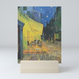 Cafe Terrace at Night by Vincent van Gogh Mini Art Print