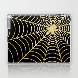 Spiderweb | Gold Glitter Laptop & iPad Skin