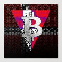 denmark Canvas Prints featuring bitcoin denmark by seb mcnulty