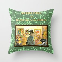 Sherlock Ferret and the Multiplying Masterpieces (cover) Throw Pillow