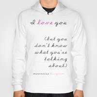wes anderson Hoodies featuring Moonrise Kingdom Wes Anderson Movie Quote by FountainheadLtd
