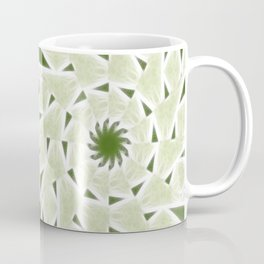 Green White Kaleidoscope Art 2 Coffee Mug
