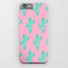 Linocut Cacti Candy iPhone 6s Slim Case