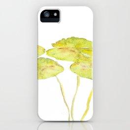 lotus leaves iPhone Case