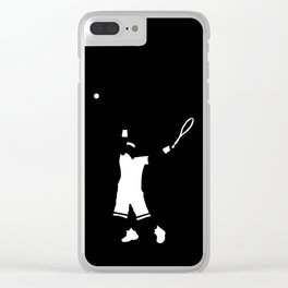Tennis player Clear iPhone Case