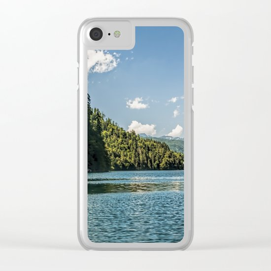 Koenigssee lake Bavaria Mountains Alps Clear iPhone Case