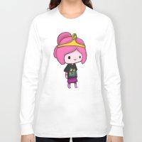 princess bubblegum Long Sleeve T-shirts featuring Bubblegum Princess by Kam-Fox