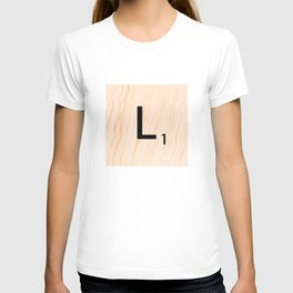 Scrabble Letter L - Large Scrabble Tiles T-shirt