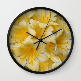 IVORY COLOR CLIVIA FLOWERS Wall Clock