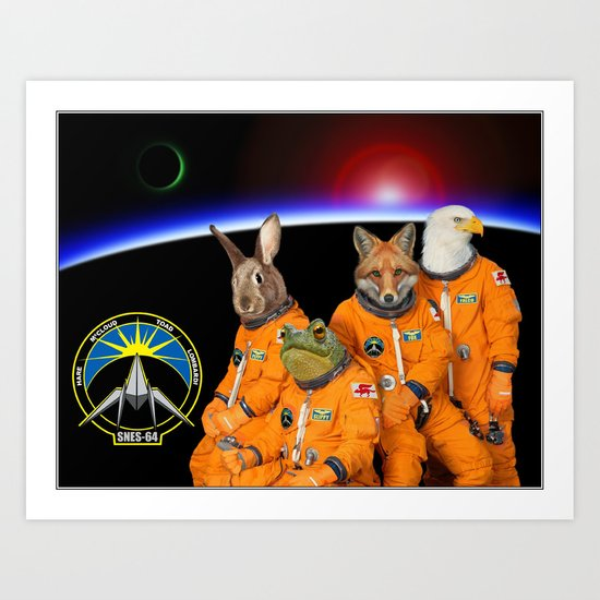 STARFOX - The Lylat Space Program Art Print