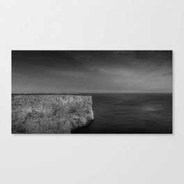 Cabo de S. Vicente, Sagres, Algarve Portugal. Black and white version. Canvas Print