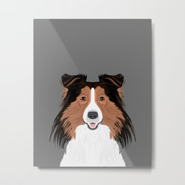 Jordan - Shetland Sheep Dog gifts for sheltie owners and dog people gift ideas perfect dog gifts Metal Print
