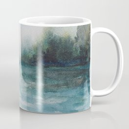Watercolour Riverscape Coffee Mug