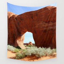 At The End Of The Trail - Pine Tree Arch Wall Tapestry