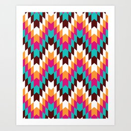 Tribal Chevron II Art Print