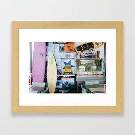 Surf Café Framed Art Print