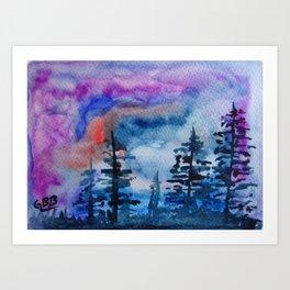 Garrett Browning Purple Haze Art Print