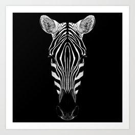 Zebra Sym Art Print