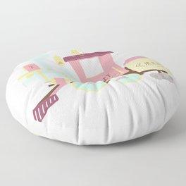 Train - Pink Variation Floor Pillow