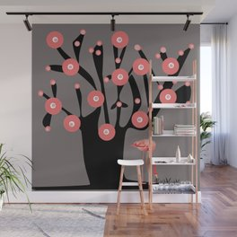 tree and a flamingo... Wall Mural