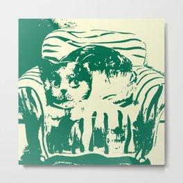 Toby the cat b Metal Print