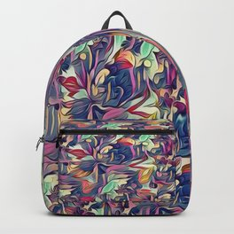 Midnight Floral Abstract Backpack