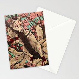 Kitsune rest Stationery Cards