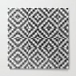 Dizzy Zebra Thoughts 2 Metal Print
