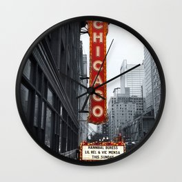 Sign, Chicago Theater Wall Clock
