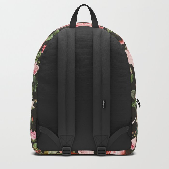Floral and Flemingo Pattern Backpack