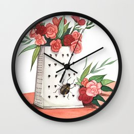 Unexpected Terrarium Bug Wall Clock