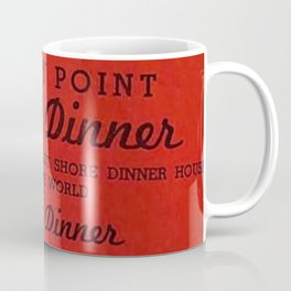 1906 Rocky Point Amusement Park Shore Dinner Hall New England Claim Bake Menu, Warwick, Rhode Island Coffee Mug