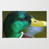 duck Area & Throw Rugs featuring Duck by jamester42