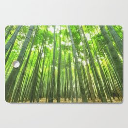 Bamboo Forest Illustration Cutting Board