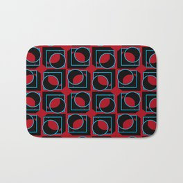 Tubes in Cubes on Red Bath Mat