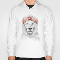 Hoodies featuring Festival lion by Balazs Solti