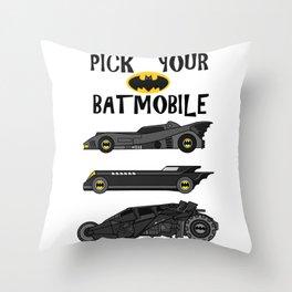 pick your bat ride Throw Pillow