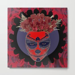 Catrina Flower Metal Print