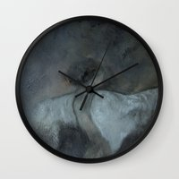 imagerybydianna Wall Clocks featuring morphē by Imagery by dianna