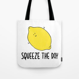 Squeeze the Day Lemon Fruit Tote Bag