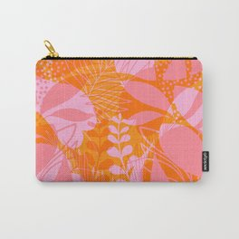 Tropical Jungle Pattern - Orange & pink Carry-All Pouch