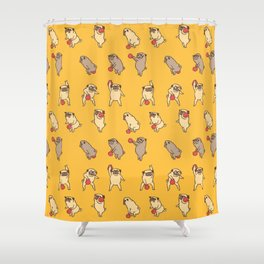 Kettlebell workout with Pugsgym Shower Curtain